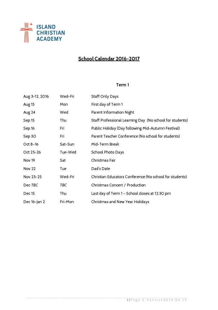 2016-17 IsCA School Calendar (13Jun16)News#17_Page_1