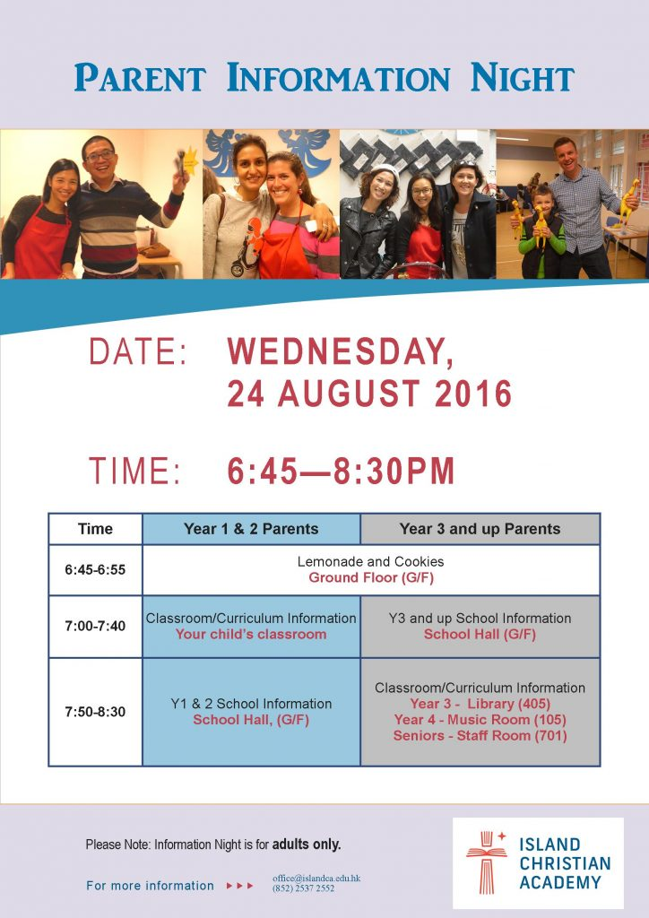 Parent Info Night 2016 A3